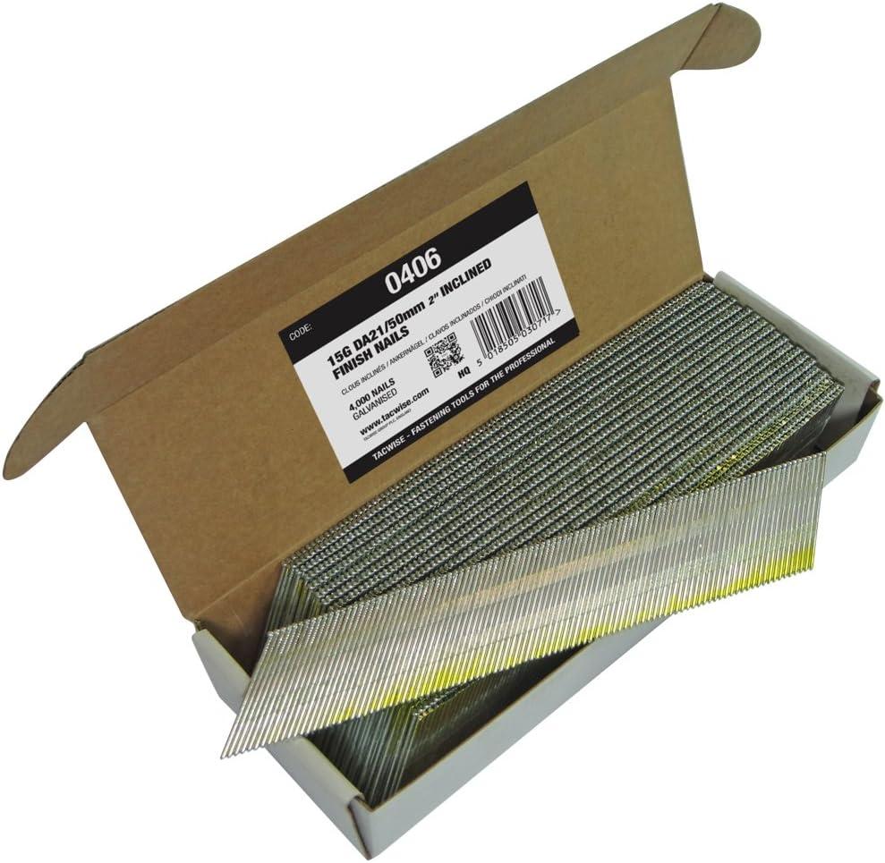 Tacwise 0406 Clavos inclinados 15 g/50 mm, 1375 L 188 x W x D 12 mm, Set de 5 Piezas: Amazon.es: Bricolaje y herramientas