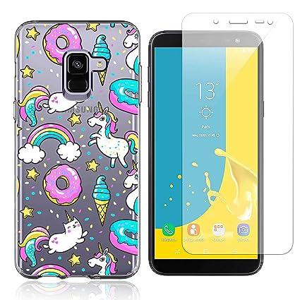 Funda Samsung Galaxy J6 Plus Donut Unicornio Suave TPU Silicona Anti-rasguños Protector Trasero Carcasa para Samsung Galaxy J6 Plus 2018 (6.0 Pulgada) ...