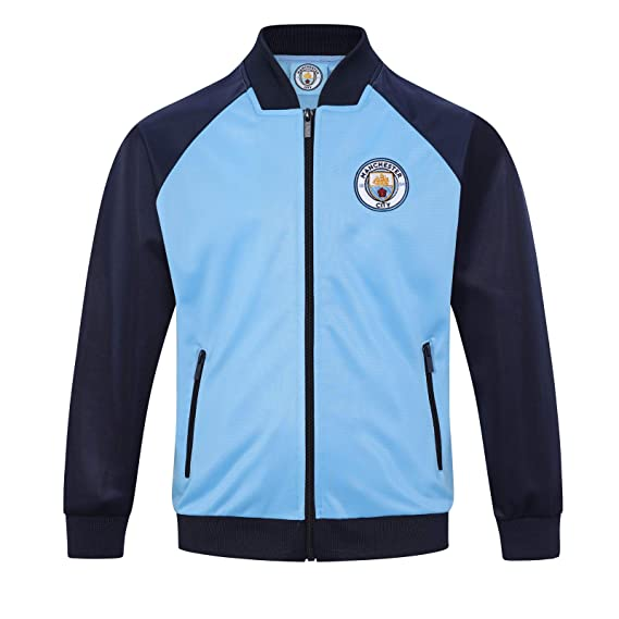 b65f23114389e Manchester City FC Officiel - Veste de survêtement thème Football - Style  rétro - garçon  Amazon.fr  Vêtements et accessoires