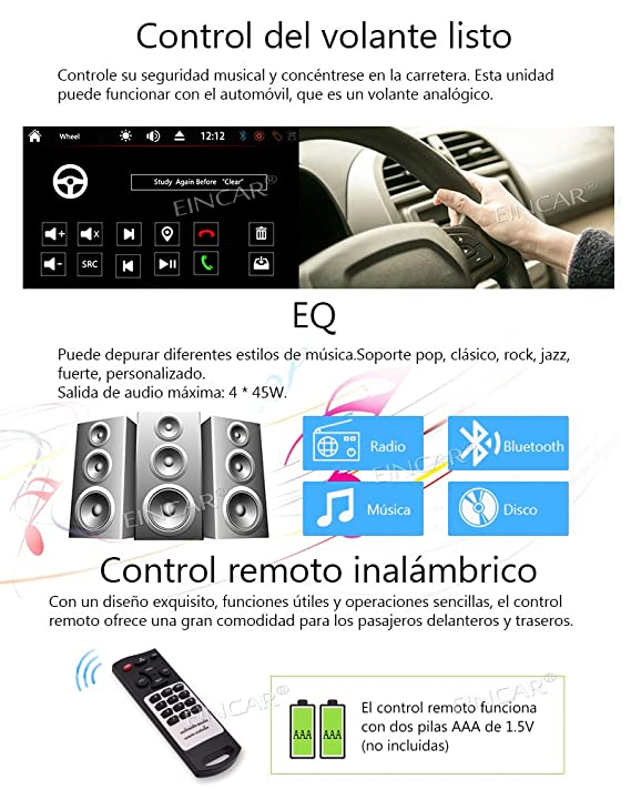 ... Stereo Receiver Vehicle Car DVD CD Player Headunit Bluetooth Built in USB/SD Aux Input SWC Subwoofer +Free Wireless Camera Provided: Car Electronics