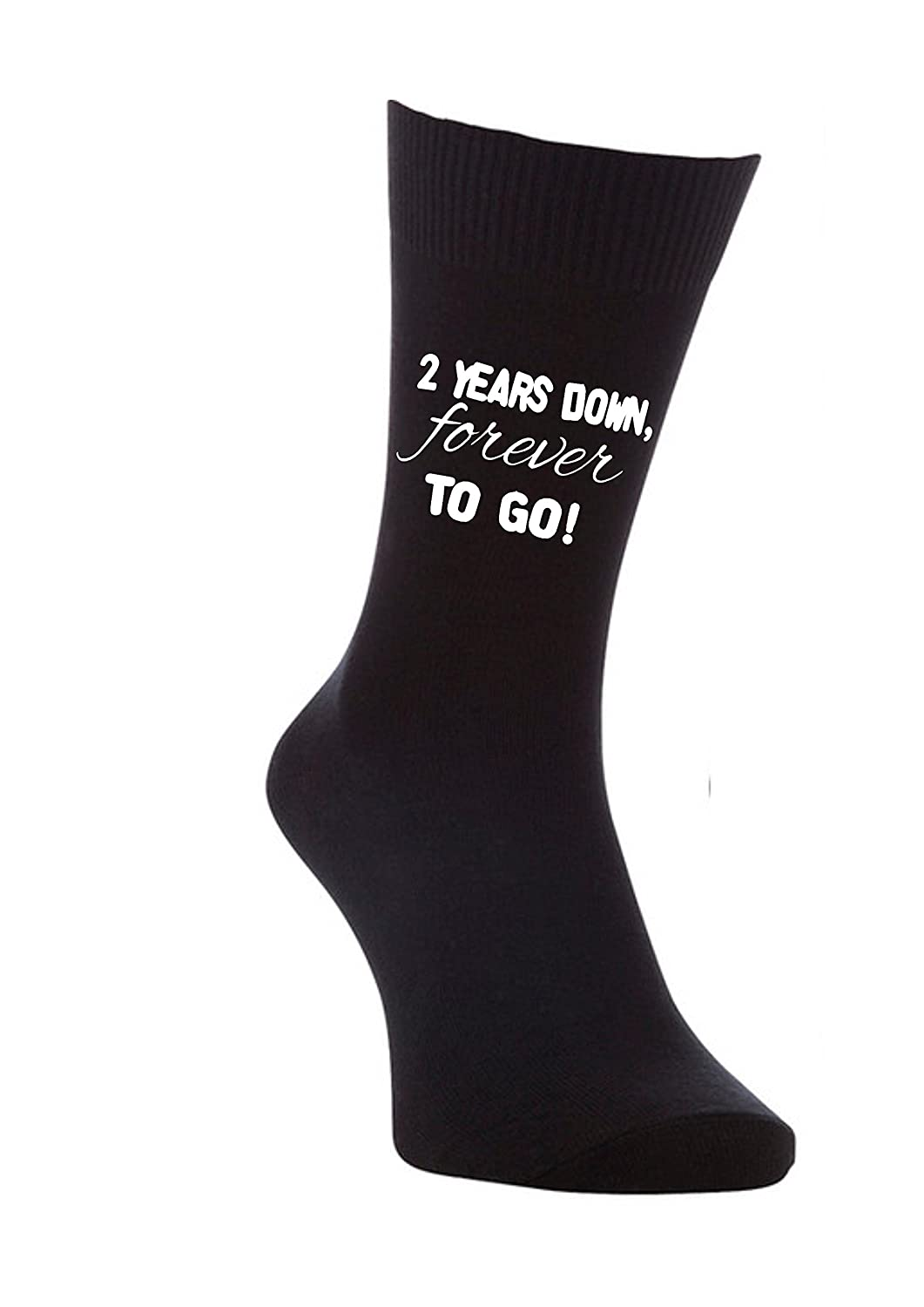 2 years down forever to go 2nd anniversary cotton gift mens socks ...