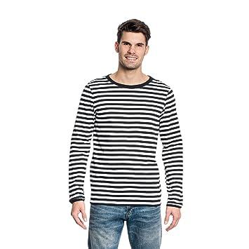 best service a90db cd134 Kostümplanet® Ringel Shirt Langarm Herren schwarz-weiß Größe S