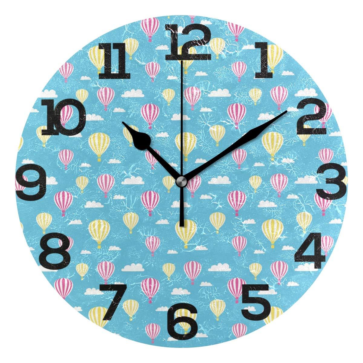 Hot Air Balloons Round Acrylic Clock