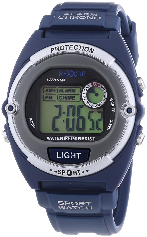 Rexxor 239-6066-99 - Reloj de cuarzo para hombres, color azul