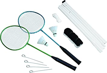 Traditional Garden Games 2 Player Badminton Set With Net Amazon Co Uk Toys Games