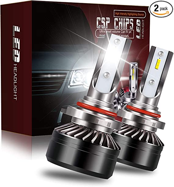 HB4 9006 White 8000LM LED Headlight Bulbs Fit Chevrolet Express 2500 2003-2010