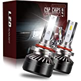 AUSI Extremely 9006 HB4 LED Headlight Bulbs Low Beam Fog Lights Replacement Conversion Mini Sized Design with Fans Adjustable