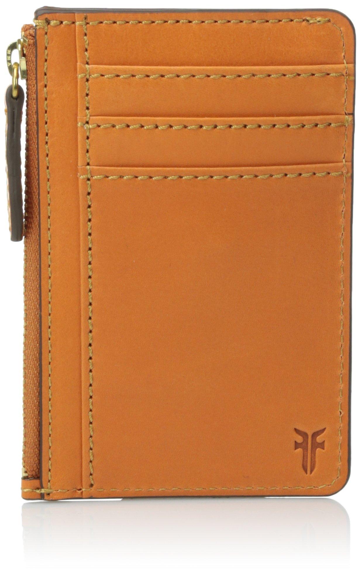 FRYE Women's Harness Id Card Case, Orange, One Size