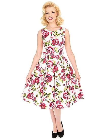 bfc615cd00cefc Hearts & Roses London Kleid Sweet Rose Swing Dress 5694: Amazon.de ...