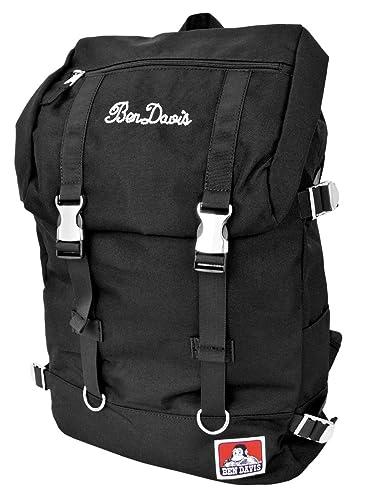317ed8b36027 ben-bdw9061 Black (ベンデービス)BEN DAVIS Metal Backpack バックパック メタルバックル フラップ