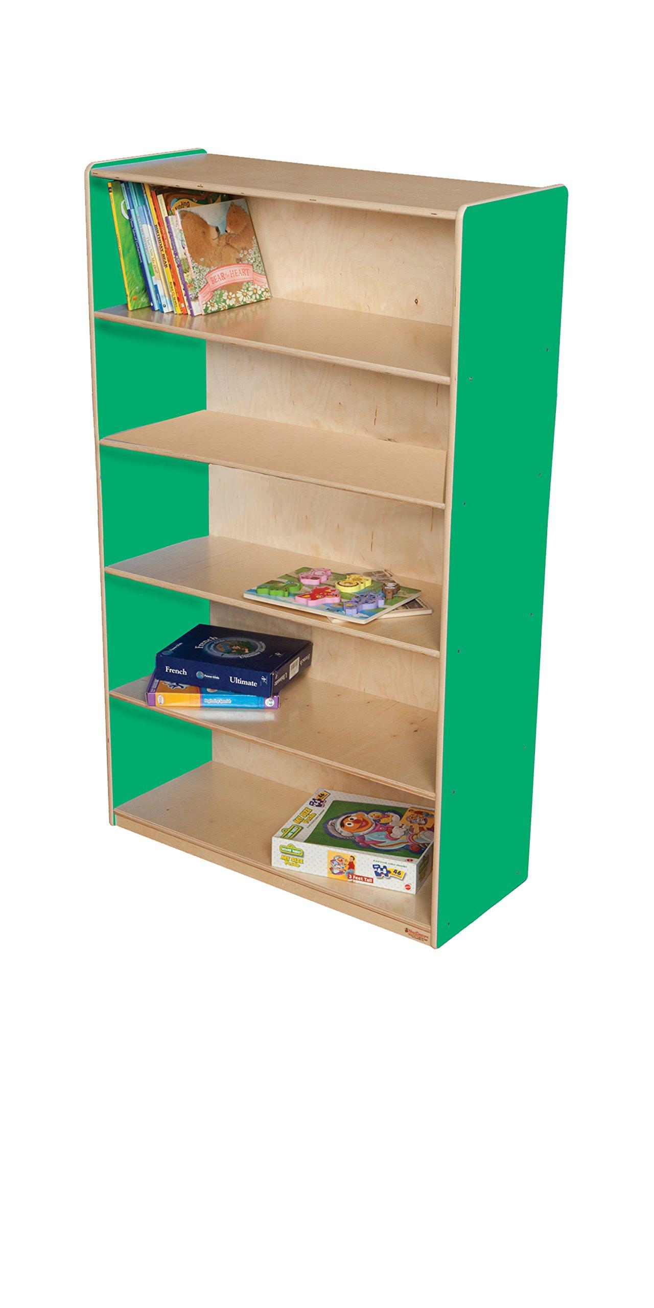 Wood Designs WD12960G Bookshelf, 60 x 36 x 15'' (H x W x D), Green Apple Color