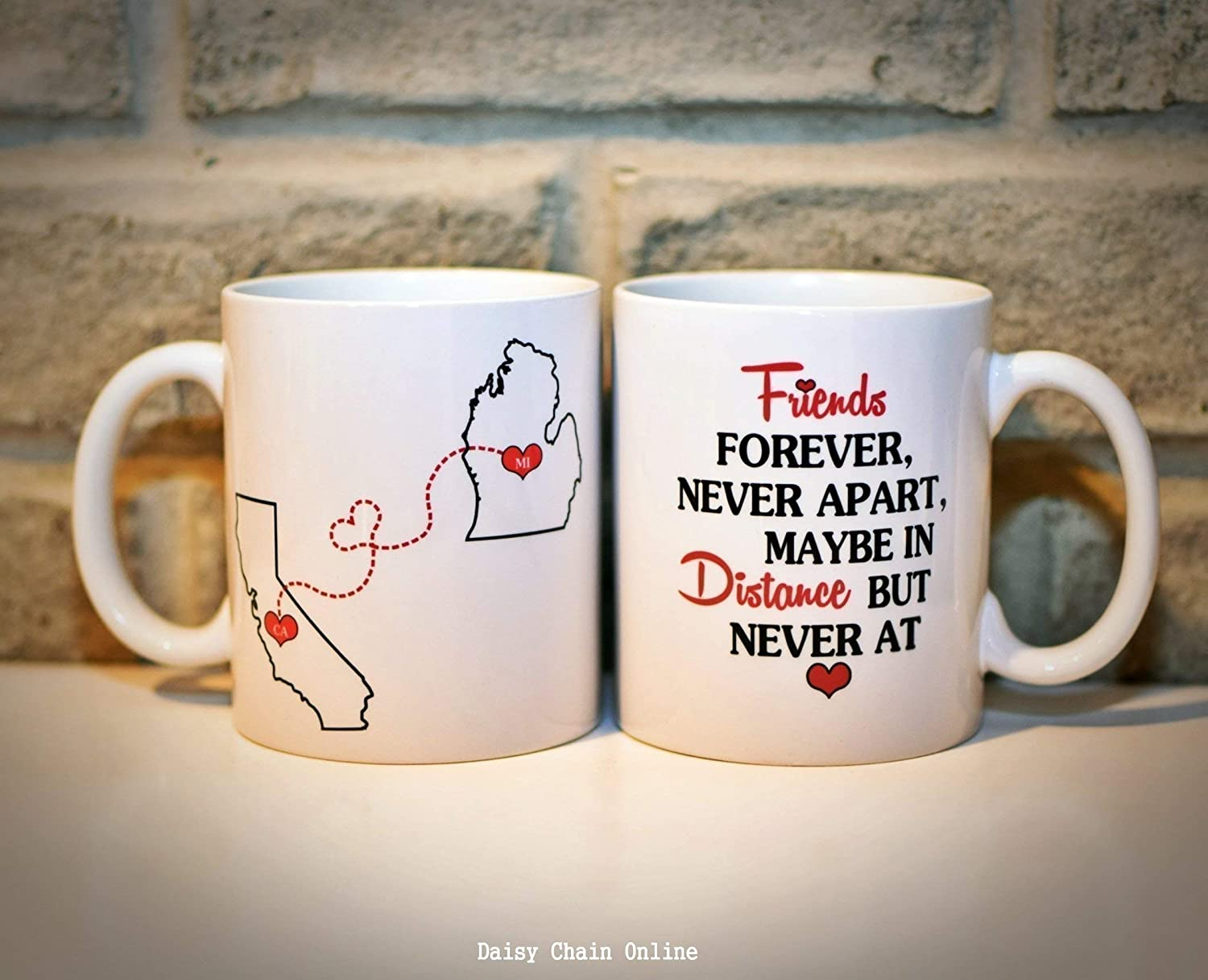 Bff Long Friends StatesCountries Mug Available Custom Distance With State Best QuoteAll Personalized Your Coffee eEDYW9H2I