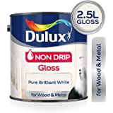 Dulux Non Drip Gloss Paint For Wood And Metal - Pure Brilliant White 2.5L