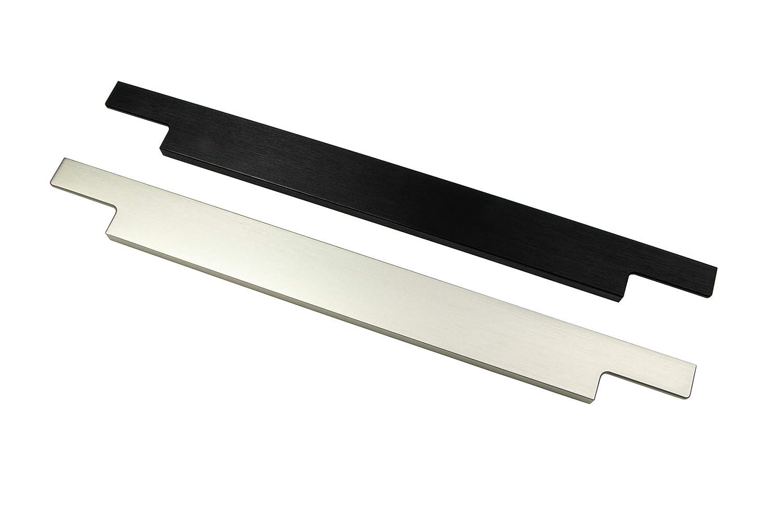Moderner M/öbelgriff K/üche Griffleiste Edelstahl schwarz matt AG10011 Design Schubladengriff mit Harpunen-Steg 1 St/ück Profilgriff mit L/änge 446 mm K/üchengriff Aluminium f/ür Schubladen