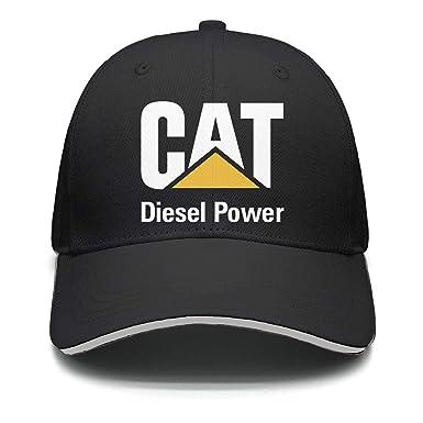 3c0a9c6608148 CAT-Diesel-Power-Logo-Men Flat Cute Adjustable Mesh Outdoor Cotton Baseball