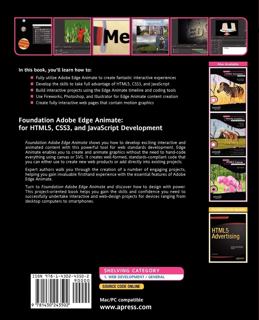 Buy Foundation Adobe Edge Animate: for HTML5, CSS3, and
