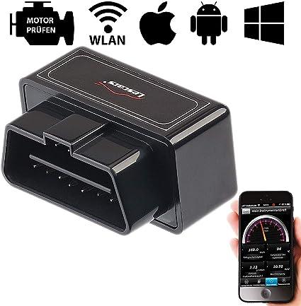 Lescars Obd 2 Profi Adapter Mit Wlan Für Ios Und Android Mobilgeräte Auto