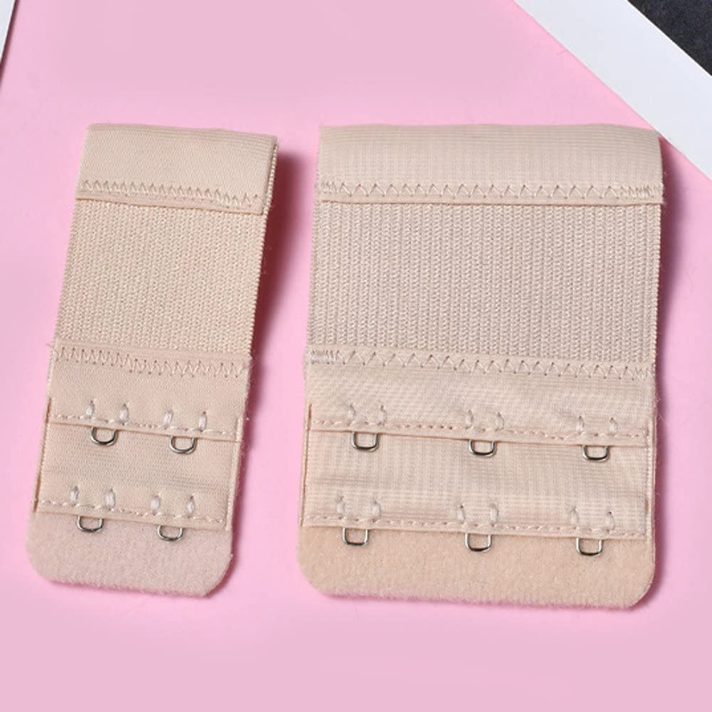2 Rows x 3 Hooks 2 Hooks Soft Comfortable Bra Extenders Sets Atcool 6 Pcs Womens Bra Extenders Elastic Stretchy Bra Extension Strap for Girls Favors