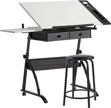 Craft & Hobby Essentials 62001 - Mesa de Metal y Cristal para ...