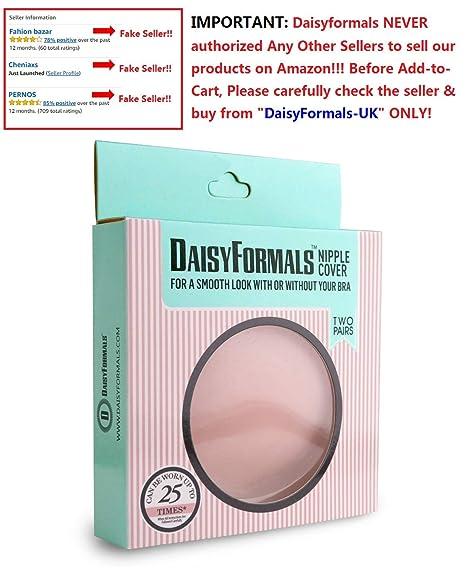 DaisyFormals ® Réutilisable Auto-adhésif Cache-tétons en Silicone Nipple  Cover (2 paires) - Circulaire   Fleur  Amazon.fr  Vêtements et accessoires 4328edca4b2