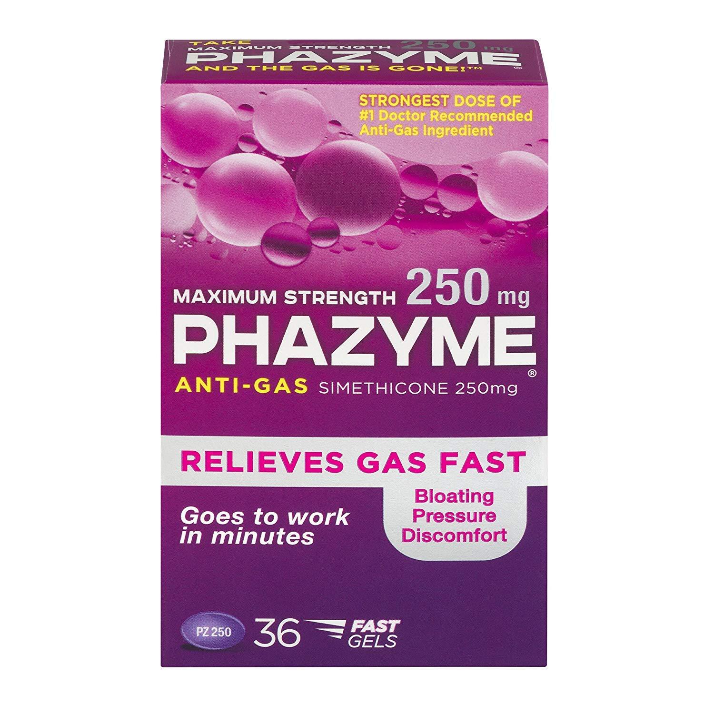 Phazyme Maximum Strength Softgels, 36 ea (Pack of 4)