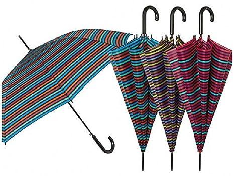12011 Paraguas Mujer Largo perletti Automático A Rayas antiviento