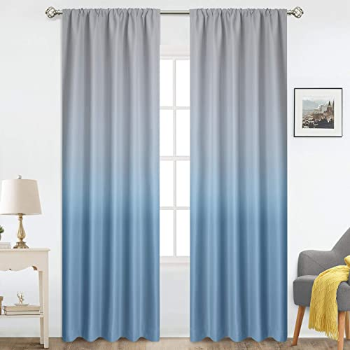 Deal of the week: COSVIYA Rod Pocket Ombre Room Darkening Curtains 96 inch Long