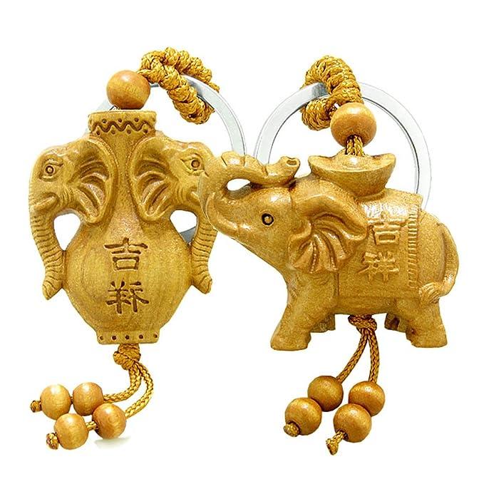 Amazon.com: Amuleto triple Lucky y el espíritu de elefantes ...