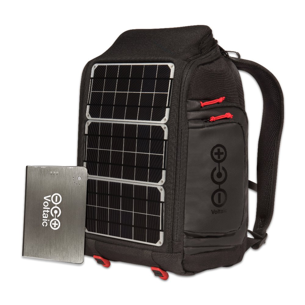 Voltaic Systems Array Rapid Solar Backpack Charger for Laptops | Includes a Battery Pack (Power Bank) and 2 Year Warranty | Powers Laptops Including Apple MacBook, Phones, USB Devices, More - Silver by Voltaic Systems