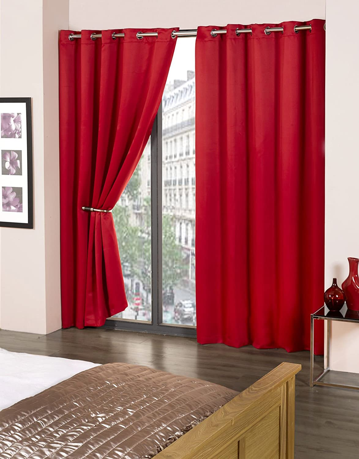 jacquard p blackout curtains luxury pattern red embroidered chenille