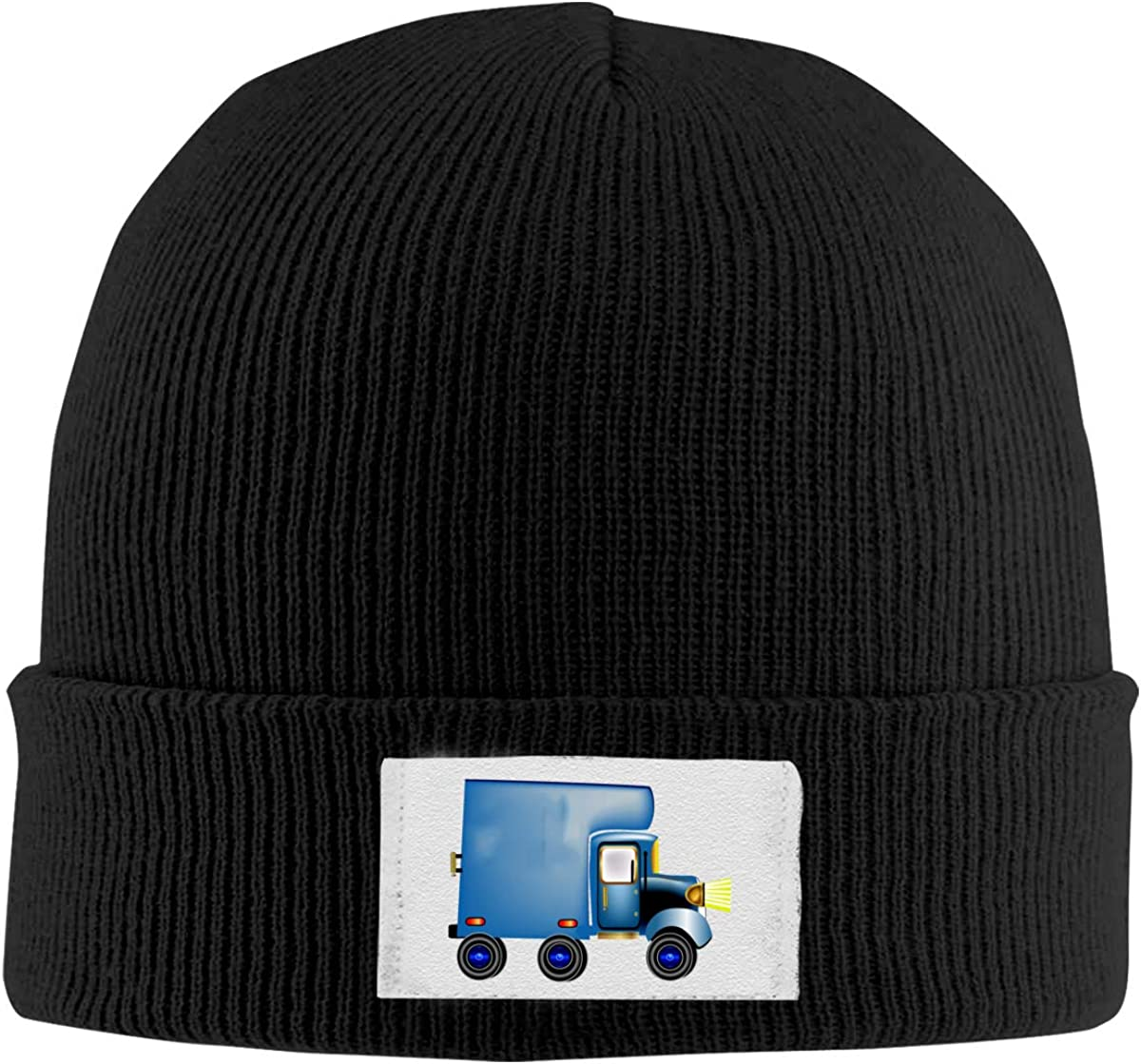 Blue Moving Car Knit Hats Beanies Cap Cool Unisex Winter