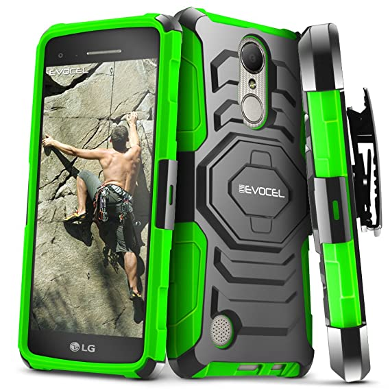 Hybrid Shockproof Holster Clip Kickstand Case Cover For Lg Aristo Lv3 V3 Ms210 Clear-Cut Texture Cases, Covers & Skins