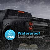 "Partsam 1PC Red 15"" 11 LED Light Bar Stop Turn Tail 3rd Brake Light Truck Trailer Identification ID Bar Waterproof"