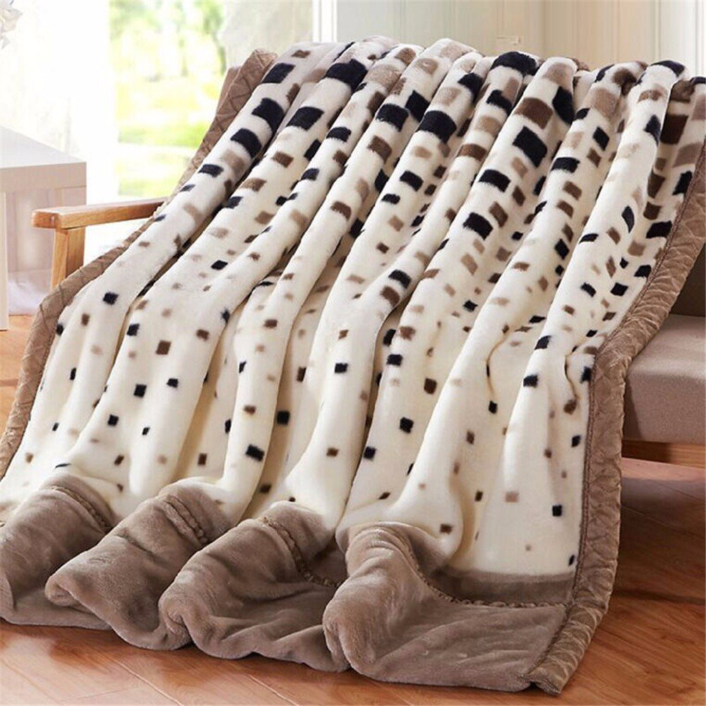 Raschel Blanket Weighted Fleece Napping Throw Snuggle Reduce Anxiety Help Autism Bed Couch Cozy Warm Smooth Heavy Thanksgiving Wedding Christmas Birthday Gift,for Kids Twin,150×200cm 2.5kg by GAW Bedding