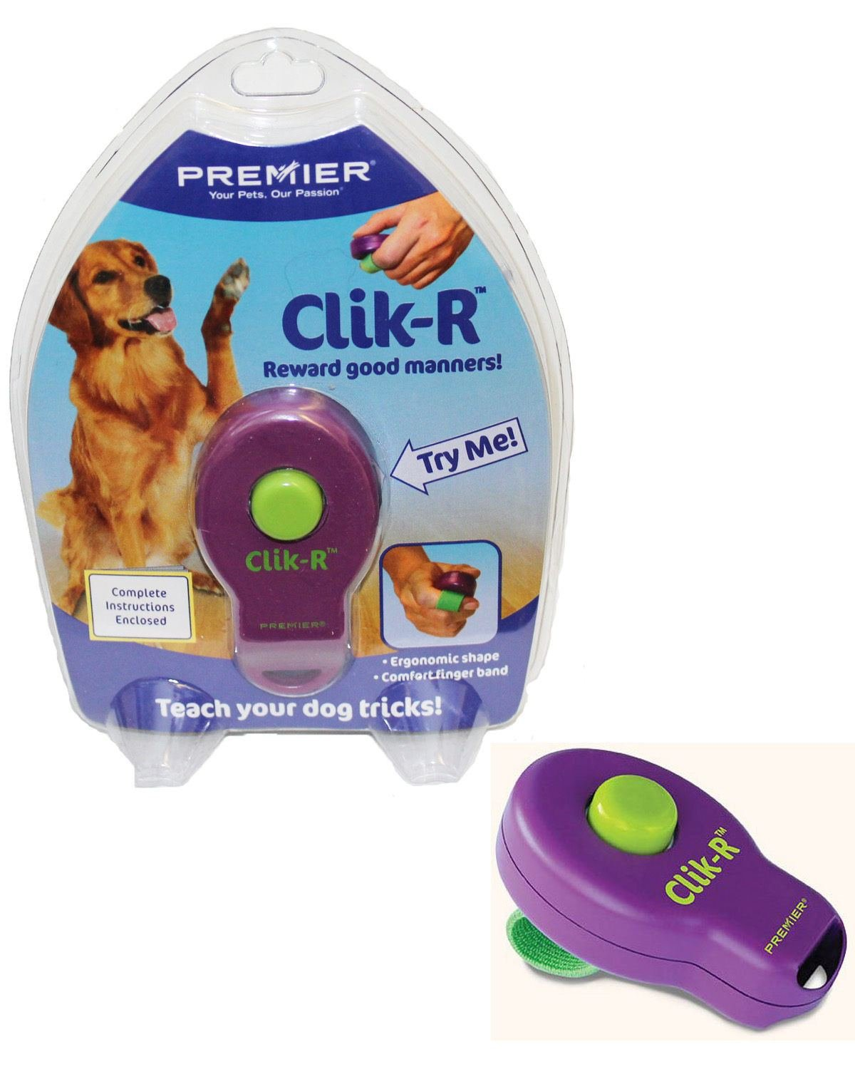 Destinie Dog Puppy Cat Clik-R Clicker Obedience Behavior Training Tricks & Instructions by Destinie