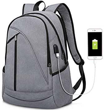 Amazon.com: Laptop Backpack with USB Port and Multiple Zipper ...