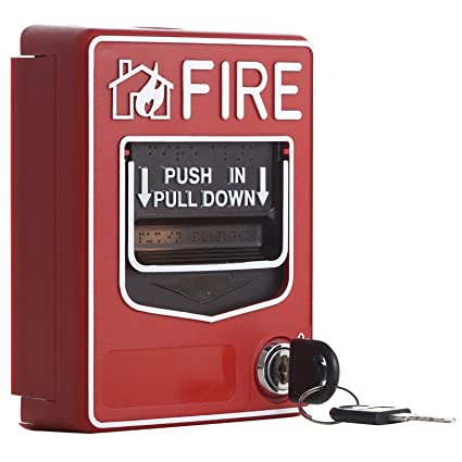 amazon com: uhppote wired 9-28vdc conventional manual call point fire reset  push in pull down emergency alarm station dual action: home improvement