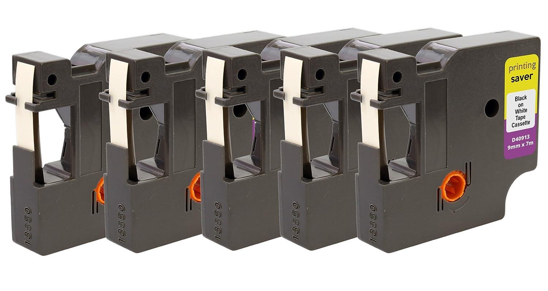 2x D1 45010 S0720500 Nero su Trasparente 12 mm x 7 m Nastro per Etichette compatibile per DYMO LabelManager LM 100, 110, 120P, 150, 155, 160, 200, 210D, 220P, 260, 260D, 280, 300, 350, 350D, 360D, 400, 420P, 450, 450D, 500TS, PC, PC2, PnP, PnP Wireless, La