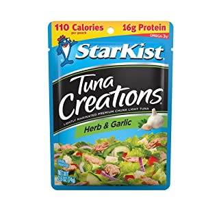 StarKist Tuna Creations, Herb and Garlic, 2.6 oz pouch (Pack of 24) (Packaging May Vary)