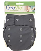 GroVia - Shell Snap Closure Baby Diaper with Waterproof Layer - Cloud