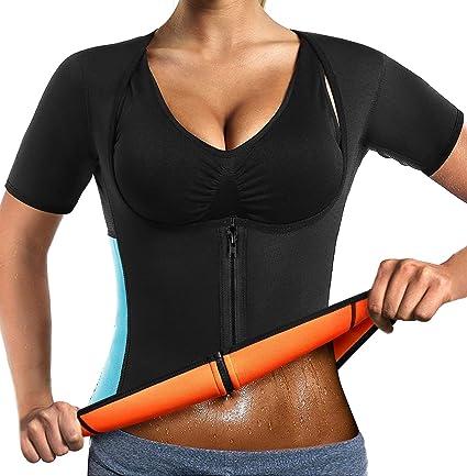 LaLaAreal Hommes Sweat Gilet N/éopr/ène Amincissant Chemise Perte de Poids Sauna Suit Taille Baskets Haut