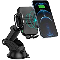 CHOETECH Wireless Car Charger, 10W/7.5W Qi Wireless Fast Charging Car Mount, USB-C Dashboard Phone Holder Compatible…