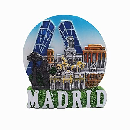 MUYU Magnet Imán 3D de Madrid España para Nevera, Regalo de ...