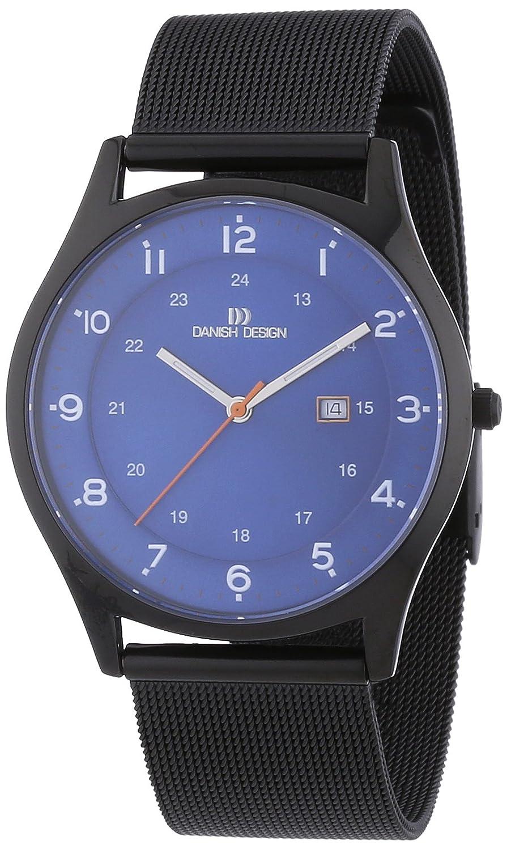 Danish Design - Reloj Analógico de Cuarzo para Hombre, Correa de Titanio Color Negro