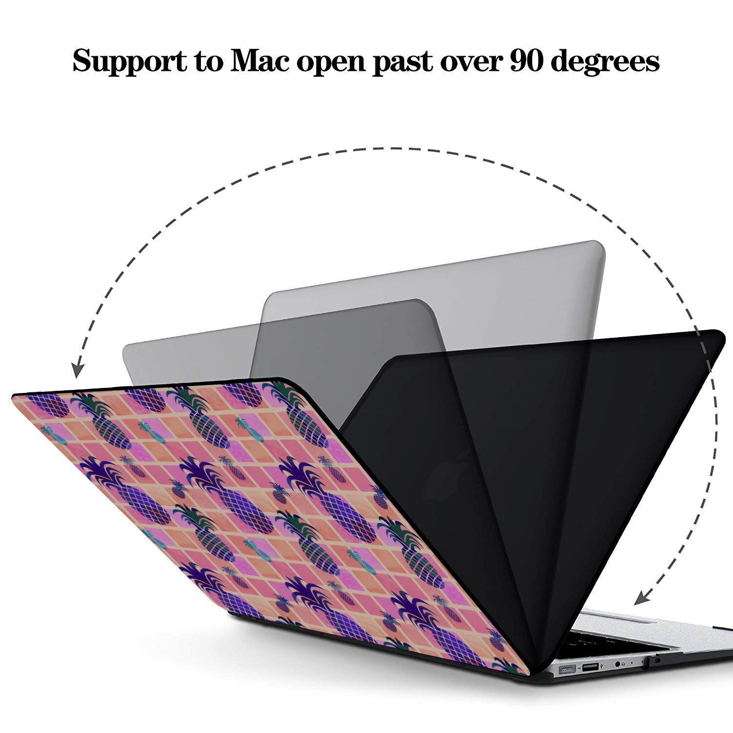 Laptop Cover Summer Fashion Sour Fruit Pineapple Plastic Hard Shell Compatible Mac Air 11 Pro 13 15 Mac Case Protection for MacBook 2016-2019 Version