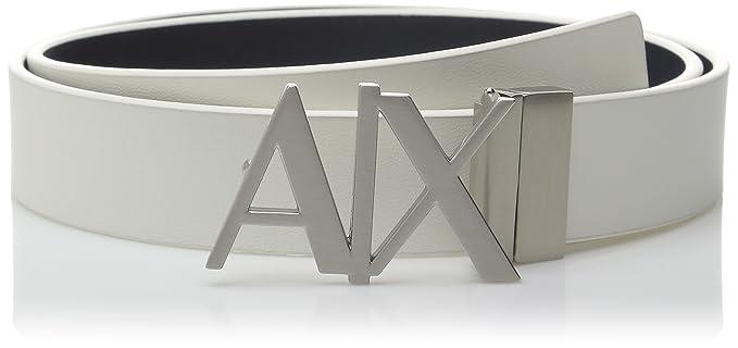 8b0f54d65dc0 Armani Exchange - Cinturón de piel con logo para hombre