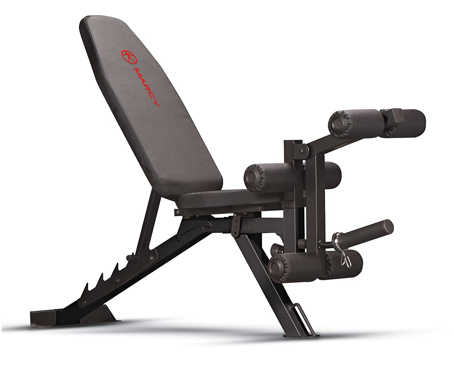 Marcy Adjustable 6 Position Utility Bench with Leg Developer and High Density Foam Padding SB-350