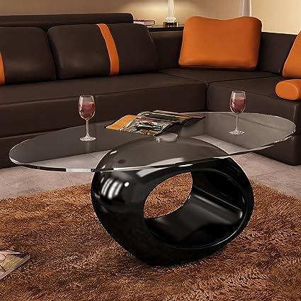 Anself 115 X 65 X 40cm Table Basse En Verre De Salon Moderne Design Unique