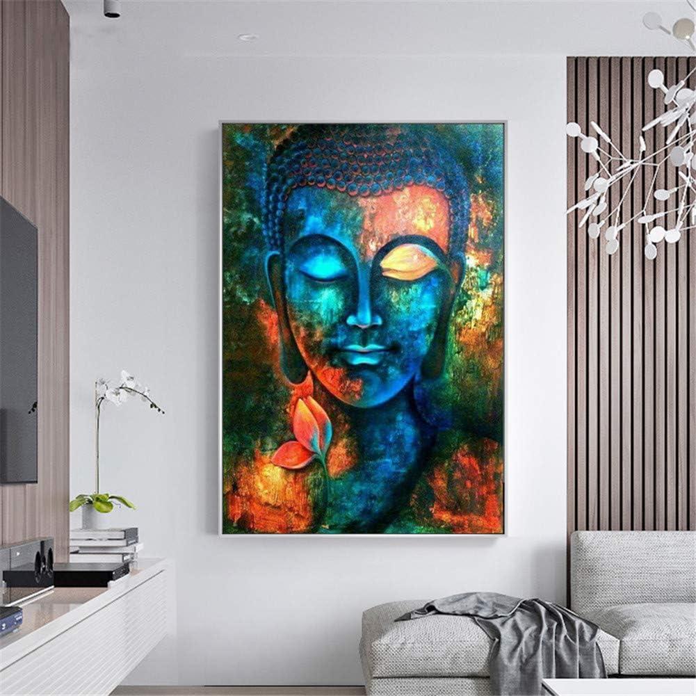 Kreuzstich Wanddekoration(30X40CM,H1543-Buddha) Strass-Stickerei Kunsthandwerks-Zubeh/ör SULISO 5D-Diamantbild Leinwand Malen nach Zahlen,DIY 5D Diamant Painting