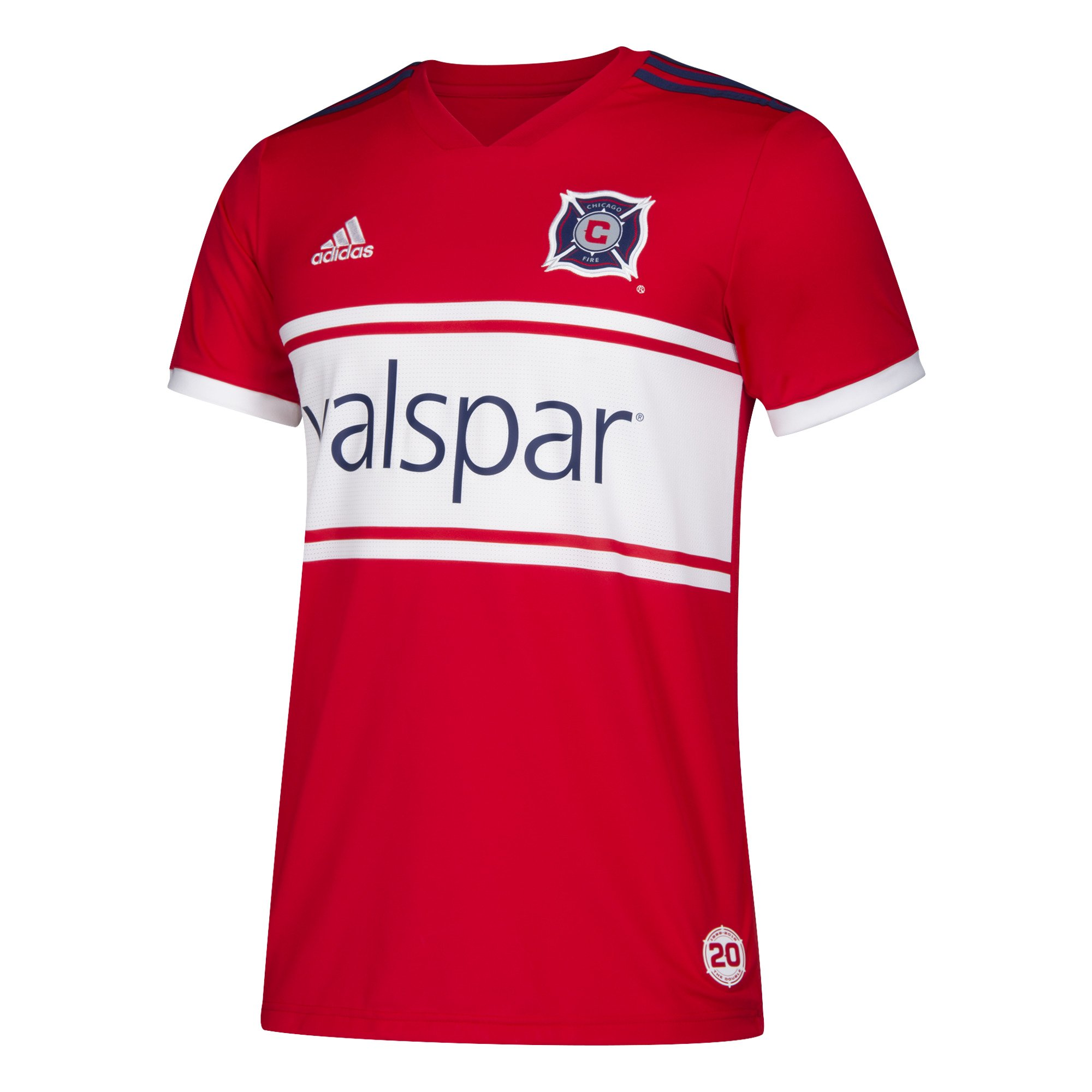 adidas MLS Chicago Fire 7417AFW9AZNCFI Men's Replica Jersey, Small, Scarlet